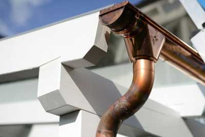 copper raingutter